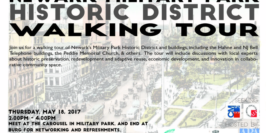 Register for the Walking Tour of Newark's Military Park Historic District